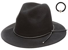 DY Women's Wool Felt Cloche Short Brim Floppy Fedora Hat With Scrunchy Size One Size Color Braid Pu Band Tie-black Fall Hats For Women, Braids Band, Outfits With Hats, Party Dresses For Women, Fedora Hat, Grosgrain, Wool Felt, Autumn Winter Fashion, Winter Season