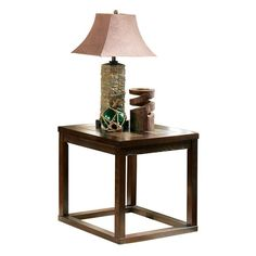 Alberto End Table, Brown