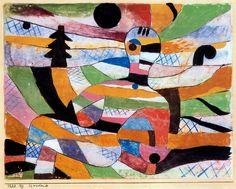 """Woman Awakening"", Paul Klee,1920."