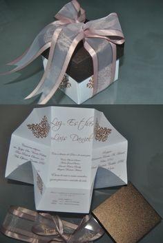 Convite de casamento em formato de caixinha!