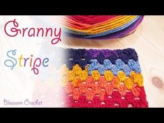 Easy To Crochet Granny Stripe Blanket - ilove-crochet