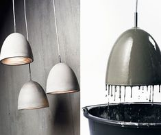 Lots & lots of DIY Ceiling Lights... concrete