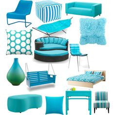 BLUE by eandsflora on Polyvore