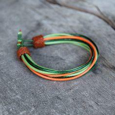 Unisex: braun grün orange Herren Armband, Designer Armband für Männer, männlichen Armband, Jungs Geschenk