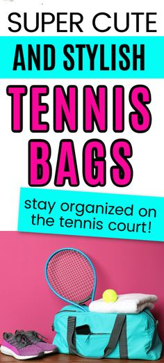 One must have tennis accessory is a functional tennis bag to keep you organized for tennis tournaments and practice. These cute tennis bags are perfect for anyone looking to be stylish and organized at the same time. Tennis Bags, Tennis Gear, Tennis Clothes, Play Tennis, Tennis Tournaments, Tennis Players, Tennis Accessories, One Bag