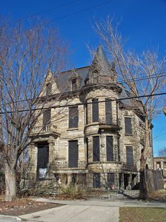 Franklin Castle, an abandoned mansion in Cleveland, Ohio.