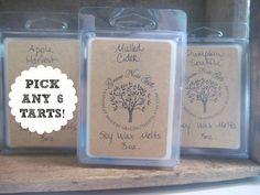 PICK ANY 6 Soy Wax Tarts Scented Soy Wax Melts by GraceNoteGifts, $19.00