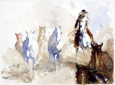 All the Good Un's is a watercolor piece by Buck Taylor