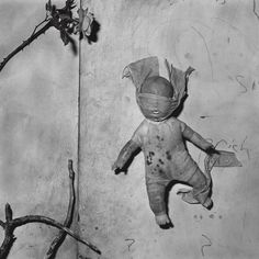 Doll taped to wall, 2000 - Beyond the mask: Roger Ballen's outsider portraits