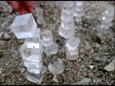 ❥ Amazing Natural Phenomenon in the Dead Sea~ mystery of the sea salt cubes washing up on the shore of the Dead sea. Very cool!