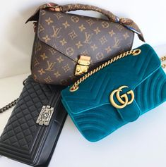 Louis Vuitton, Chanel + Gucci