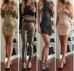 Image about girl in Outfits and Make-Up by medhavi Mode Outfits, Dress Outfits, Girl Outfits, Fashion Outfits, Party Outfits, Look Fashion, Teen Fashion, Womens Fashion, Sequin Dress