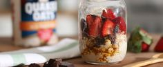 Chocolate Strawberry Overnight Oats from Quaker®