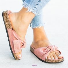 Only 1 Pair Available, Beautiful Imported Vegan Suede Sandals, With Birk , Cork Type Bed. Great Sandals In Light Mauve Color. Super Soft And Comfy. Also Comes Along With Light Mesh Storage Bags To Keep Them Nice Sandals Outfit, Bow Flats, Sport Sandals, Suede Sandals, Women's Shoes Sandals, Flat Sandals, Pink Flats, Flat Shoes, Breaking In Shoes