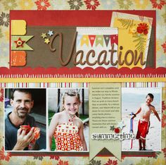 Greta Hammond's Sweethaven Inspired Scrapbook Page (Vacation!)