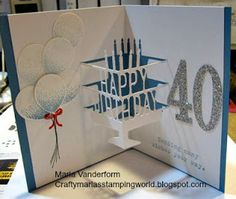 Crafty Maria's Stamping World: Pop UP Birthday Card