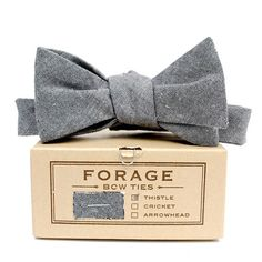 Image of grey chambray {bow tie}