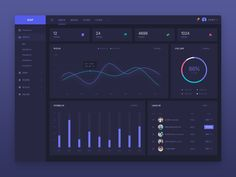Dashboard night Dashboard Interface, Web Dashboard, Dashboard Design, Ui Design, Html Projects, Software Apps, Diagram Design, Corporate Website, Web Project