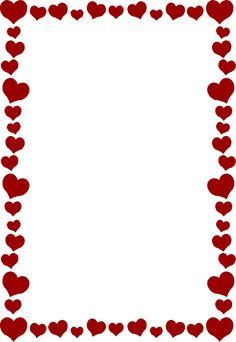 Bridal Association of America Wedding Clip Art Free Valentine Clip Art, Valentines Day Border, Page Frames, Heart Clip Art, Boarders And Frames, Heart Border, Wedding Clip, Borders For Paper, Note Paper