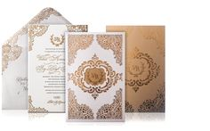 Editor's Pick: Wedding Invitation Ideas from Atelier Isabey New York. To see more: http://www.modwedding.com/2014/04/14/wedding-invitation-ideas/ #wedding #weddings #invitation