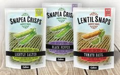 These Snapea and Lentil Crisps Are Our Newest Fave Snacks: Get your salty-crunch fix on with this healthy alternative to potato chips. #SelfMagazine