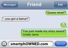 any story that doesn't involve a llama is llame.