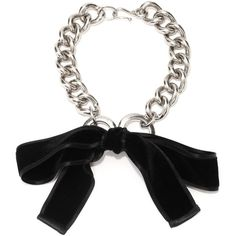 Alexander McQueen Ribbon Bow Chain Necklace ($479) ❤ liked on Polyvore featuring jewelry, necklaces, accessories, alexander mcqueen, bracelets, silver, choker necklace, alexander mcqueen necklace, chunky chain choker and chains jewelry