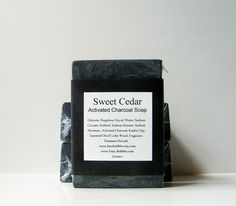 Natural activated charcoal soap. I know you used to like Coal soap - maybe this would work?