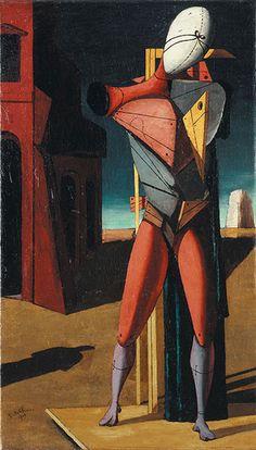 Giorgio de Chirico Il Trovatore, 1917 Olio su tela, cm 91 x 57 Collezione privata - Opera in mostra