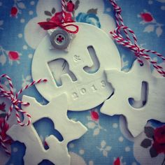 Air dry clay Christmas decorations.