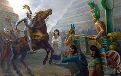 Collision of the worlds, Cortes and Monteczuma