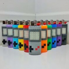 Gameboy Perler Bead LIGHTER CASE - original - gameboy color - zelda - mario - megaman - tetris - pokemon - gamer - gaming