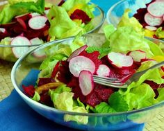 lettuce and beetroot radish salad recipe | Merjana