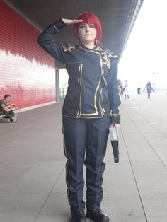 Myself cosplaying as Alliance Navy Formal Uniform FemShep from the Mass Effect video game trilogy