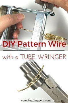nice DIY Bijoux - Use a Tube Wringer for DIY Pattern Wire | Kazuri Sautoir Necklace Tutorial