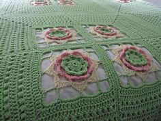 Ravelry: Project Gallery for Irish Rose Afghan pattern by Leonie Morgan Crochet Square Blanket, Crochet Granny, Double Crochet, Crochet Designs, Crochet Patterns, Blanket Basket, Square Patterns, Crochet Projects, Weaving