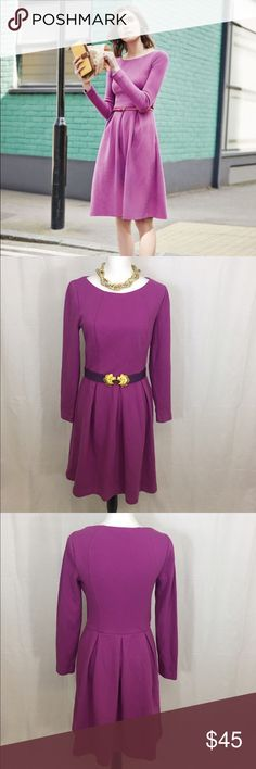 Boden Lindsey Ponte dress Beautiful Boden dress in excellent pre loved condition. Gorgeous berry color great for Easter! Side zipper. No imperfections! Size 8. Boden Dresses