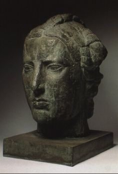 Émile Antoine Bourdelle (France, 1861–1929), Tête de liberté, bronze with green patina, 1914. Sold at auction.