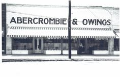Abercrombie & Owings An old store merchant once in downtown Fountain Inn, SC