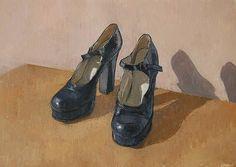 Party Shoes - Caroline Frood - still-life, landscape and portrait artist Dress Shoes, Dance Shoes, Still Life Art, Shoe Art, Painted Shoes, Party Shoes, Your Shoes, Designer Shoes, Character Shoes