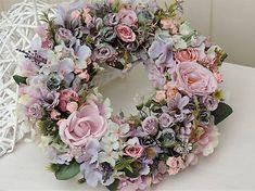 Clarah / Jarný veniec na dvere Vence, Floral Wreath, Wreaths, Home Decor, Garlands, Flower Crowns, Door Wreaths, Deco Mesh Wreaths, Interior Design