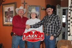 Merrill Jolley, Janie Liles and Jim Liles. Lazy J Rodeo Safety Equipment. Building our brand, better and better... every step of the way.