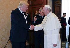 """Tras ver al papa, Trump """"buscará la paz"""""""