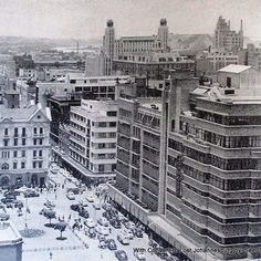 John Orr's department store overshadowed by the crowns of His Majesty's Johannesburg City, Art Deco Buildings, Back In The Day, Landscape Photography, South Africa, Department Store, New York Skyline, Crowns, African