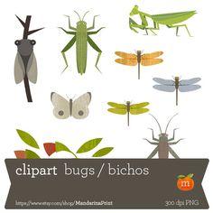 Bugs by MandarinaPrint on Etsy
