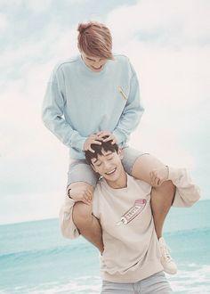 "EXO Photobook ""Dear Happniess"" in Fiji - Chen and Kai Exo Chen, Exo Kai, Bts And Exo, Sehun Oh, Chanyeol Baekhyun, Lucas Nct, Exo Ot12, Chanbaek, Kaisoo"