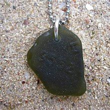 havsglas som smycken