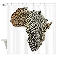 abstract african queen shower curtain. too cool -- beautiful