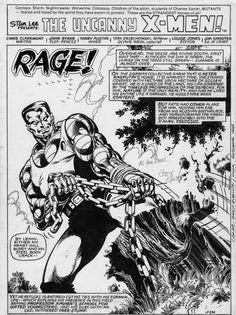 Uncanny X-Men #140, page 1 by John Byrne & Terry Austin.