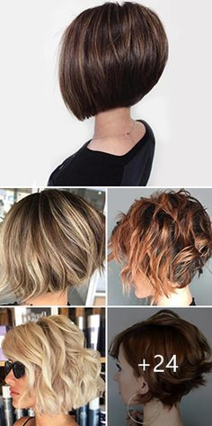 29 Impressive Short Bob Hairstyles To Try , Try New Short Bob Hairstyles This Season ❤ Consider short bob hairstyles, if change is what you seek. It is always fun to try out something new, espec. Messy Bob Hairstyles, Short Bob Haircuts, Hairstyles Haircuts, Short Shaggy Bob, Inverted Bob Haircuts, Bobs For Thin Hair, Short Hair With Layers, Short Hair Cuts, Fine Hair